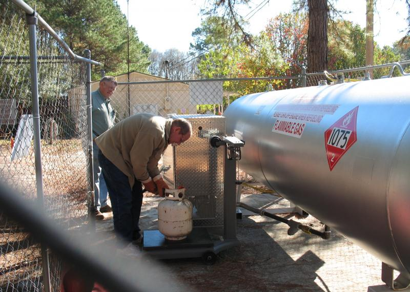 We'll fill your propane tanks and motorhomes
