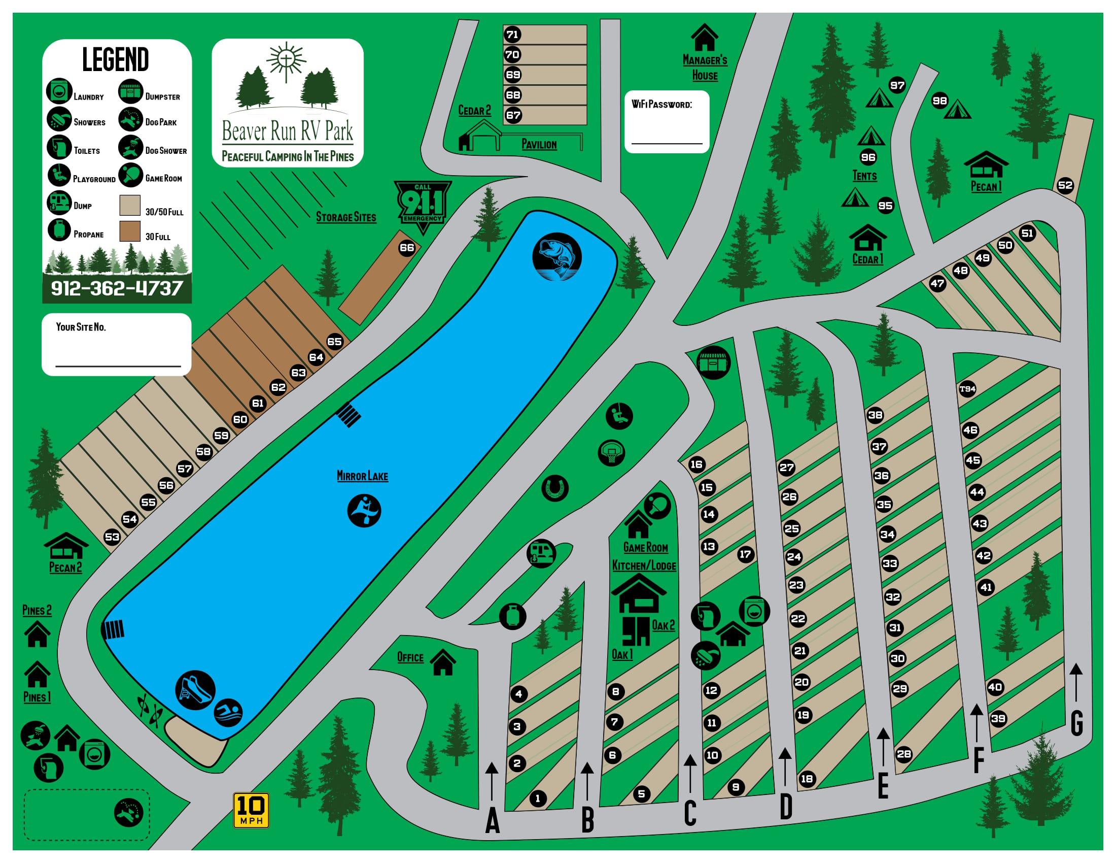 BEAVER RUN RV PARK MAP-1